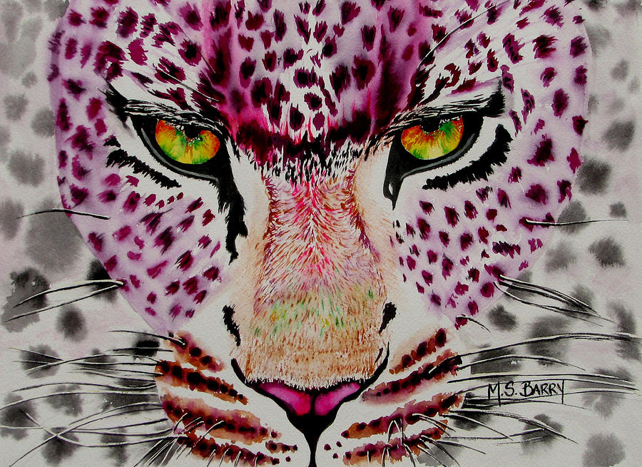 Leopard Painting - Fire And Ice by Maria Barry