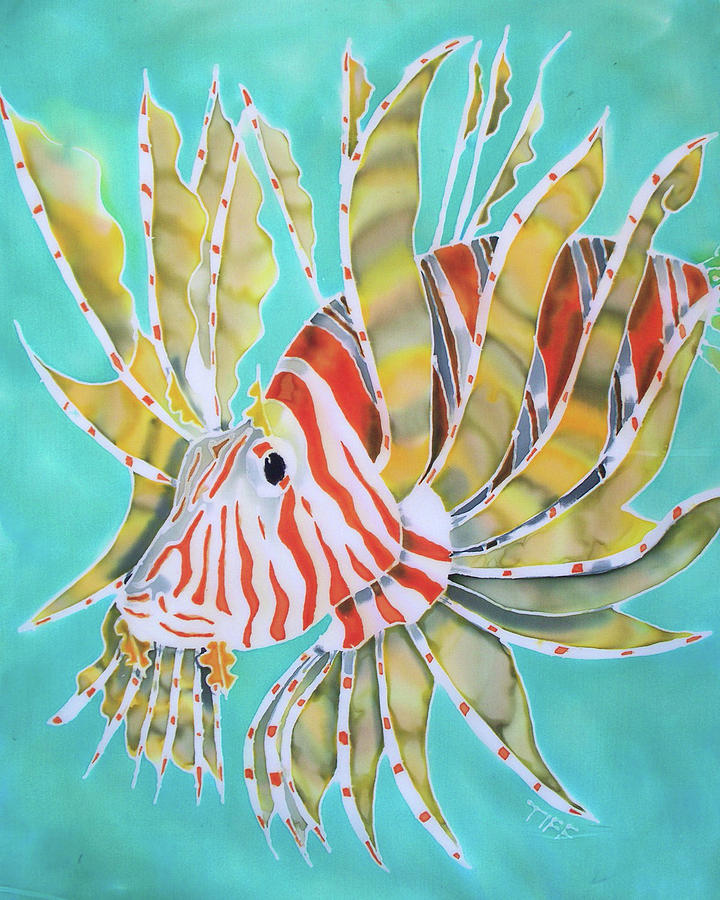 Lion Fish Painting - Fire And Ice by Tiff