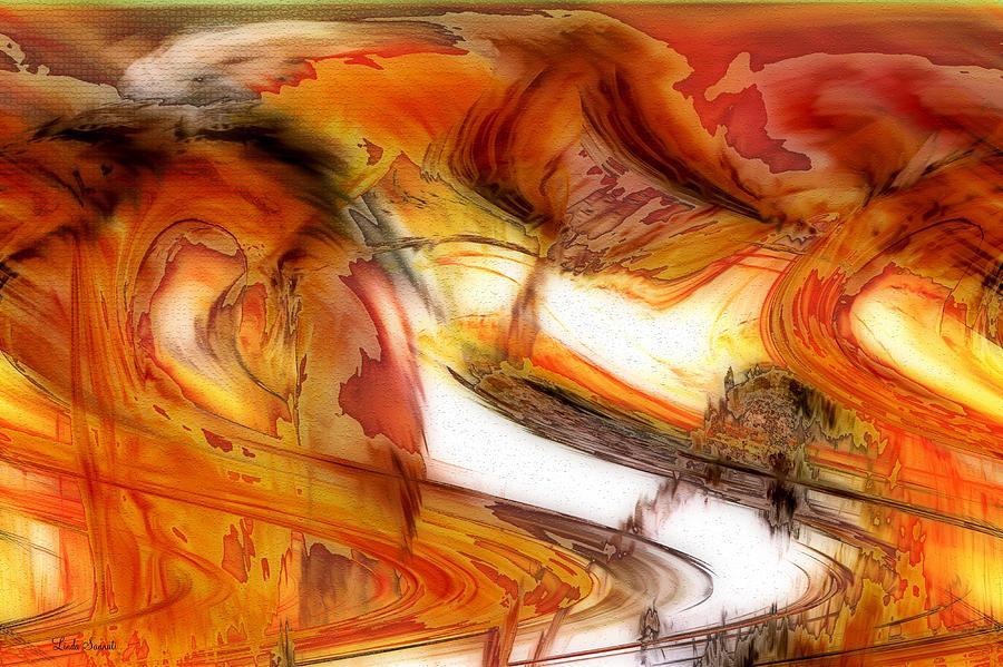 Digital Painting Digital Art - Fire And Rain by Linda Sannuti