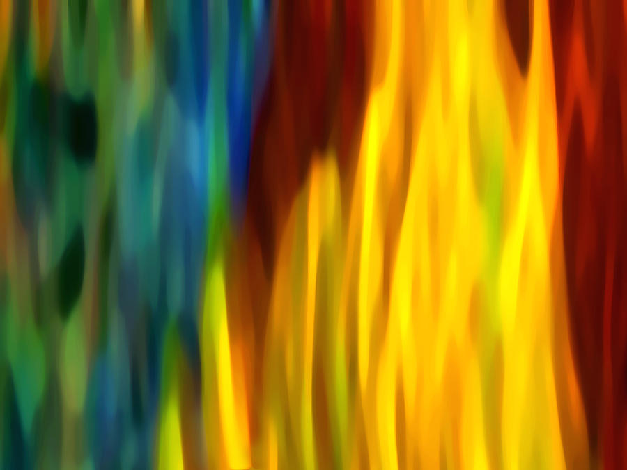 Fire Painting - Fire And Water by Amy Vangsgard