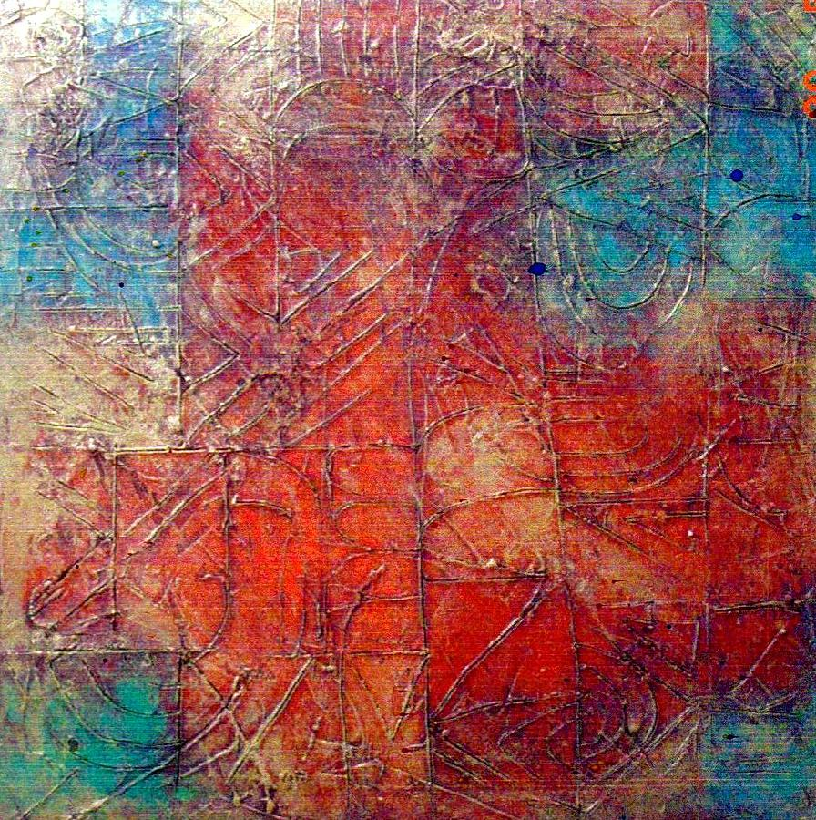 Abstract Painting - Fire And Water by Bernard Goodman