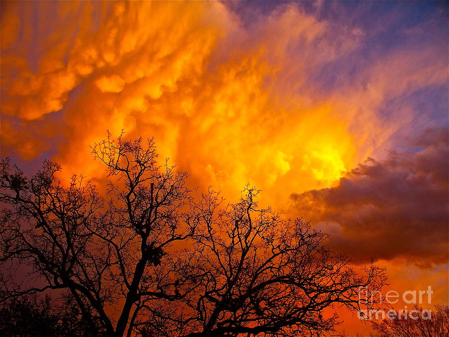 Clouds Photograph - Fire And Water In The Sky by Chuck Taylor
