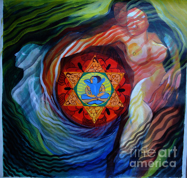 Modern Painting - Fire And Water by Narayan