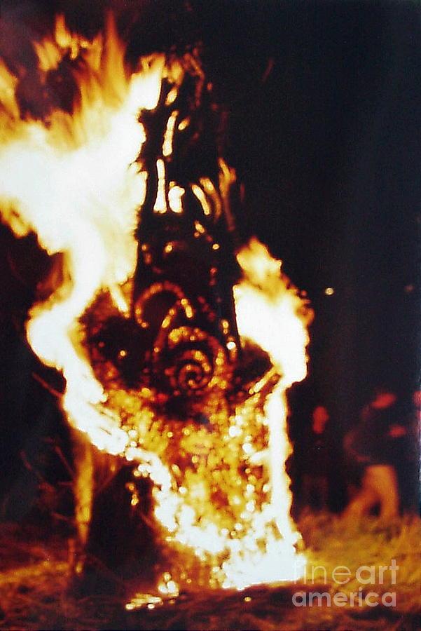 Fire Art Fantasy Sculpture by Mo Siakkou-Flodin