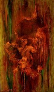 Abstract Painting - Fire Bird II by Lyuba Zahova