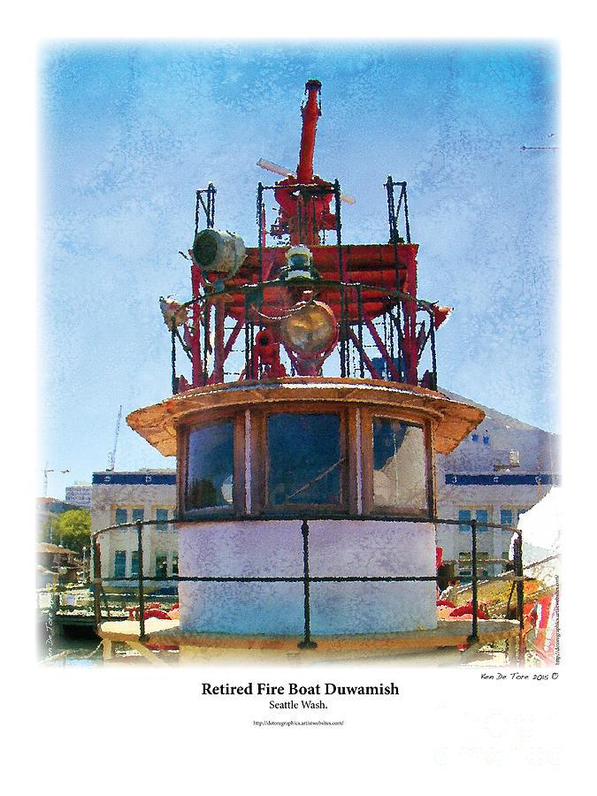 fire boat by Kenneth De Tore