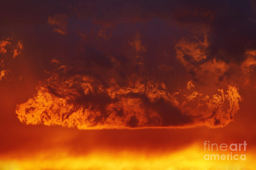 Sunset Photograph - Fire Clouds by Michal Boubin
