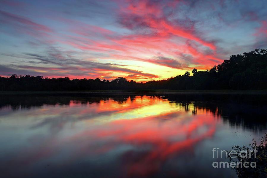 Sunset Photograph - Fire Clouds by Rick Mann