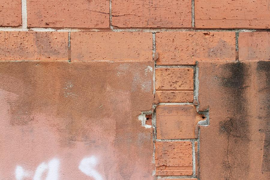 Brick Photograph - Fire Control 1 by Russell Owens