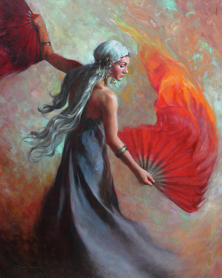 Dancer Painting - Fire Dance by Anna Rose Bain