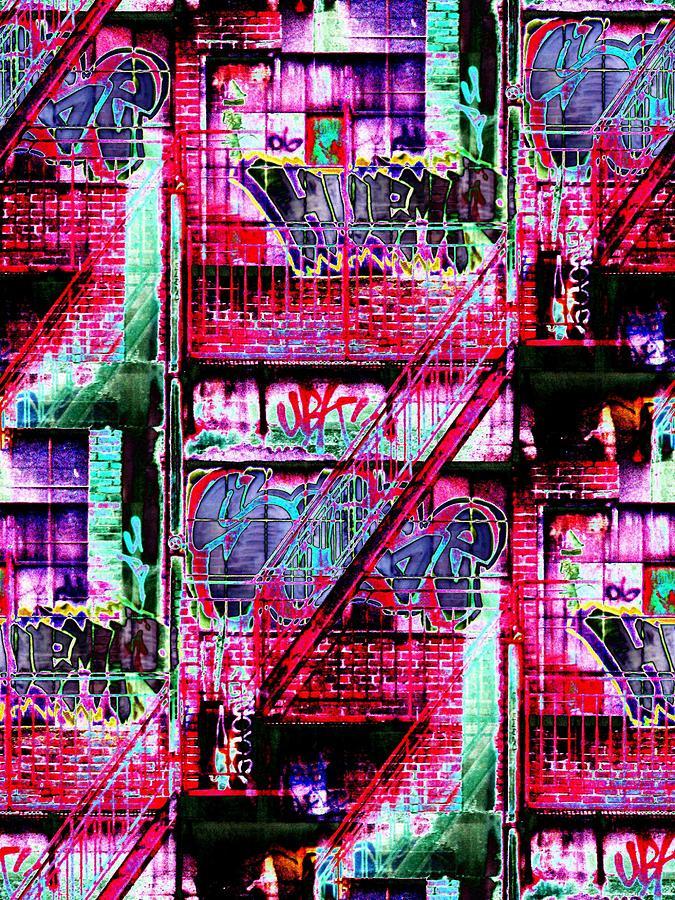 Fire Escape Digital Art - Fire Escape 3 by Tim Allen