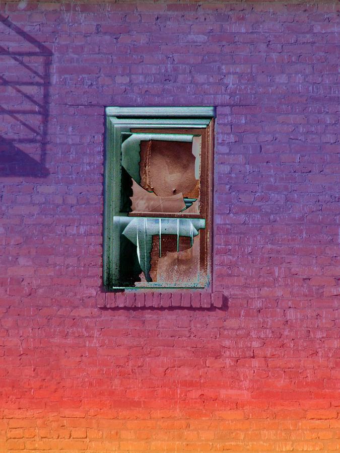 Architecture Photograph - Fire Escape Window 2 by Tim Allen
