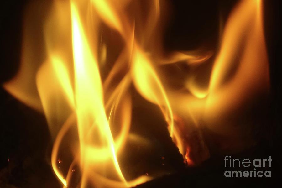 Fire Photograph - Fire  Feuer by Eva-Maria Di Bella