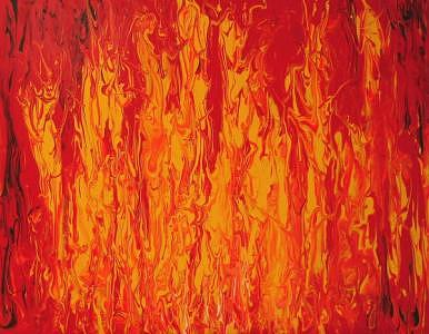 Finger Painting Painting - Fire Finger Painting by William Boyer