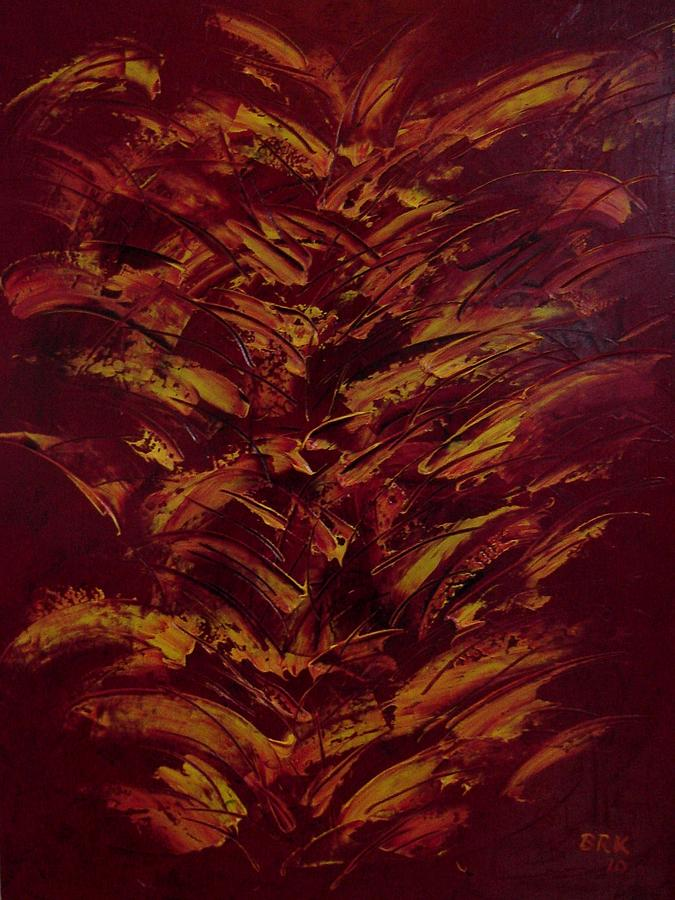 Abstract Painting - Fire Flowers by Bo Klinge
