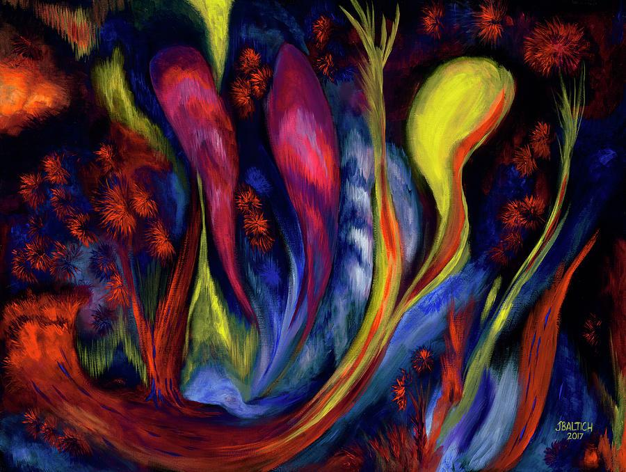 Fire Flowers Painting - Fire Flowers by Joe Baltich