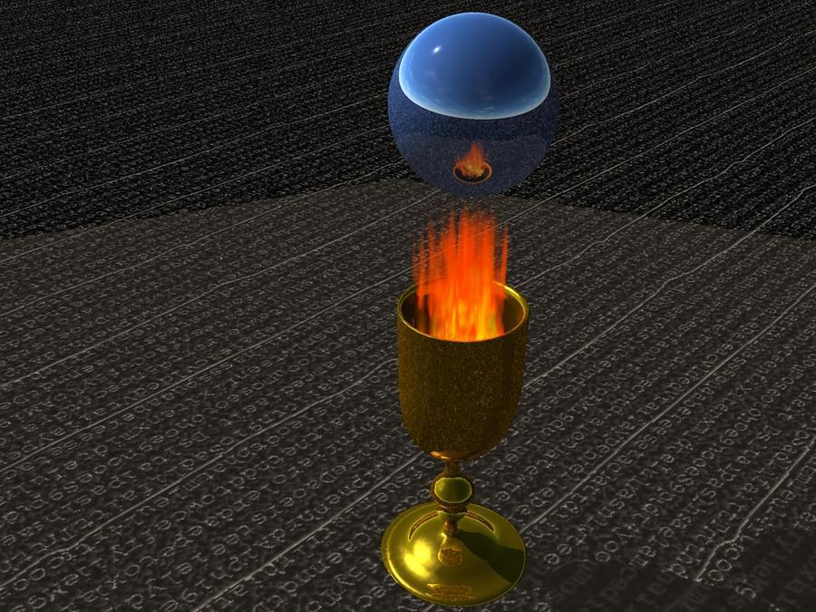 Fire Gobblet Digital Art by Michael Burleigh