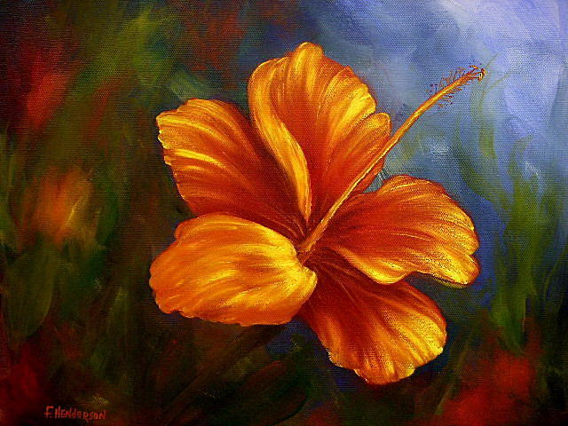 Flower Painting - Fire Hibiscus by Francine Henderson