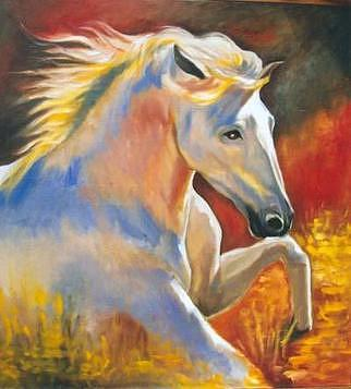 Fire Horse Painting by Nini Larranaga