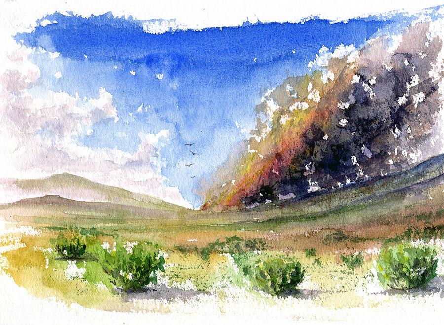 Fire Painting - Fire in the Desert 1 by John D Benson
