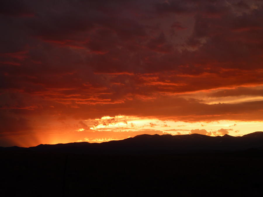 Sunset Photograph - Fire In The Sky by Dottie Healy