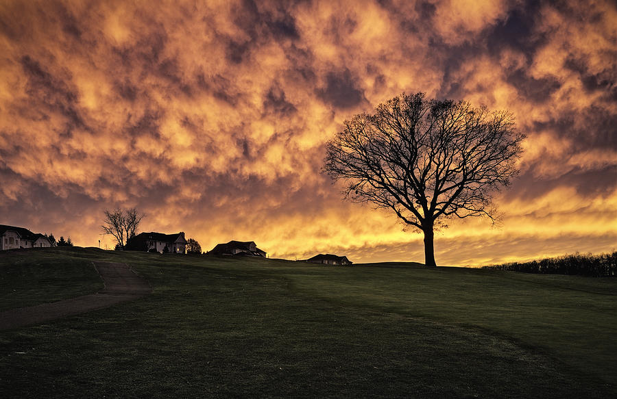 Glow Photograph - Fire In The Sky by Eduard Moldoveanu
