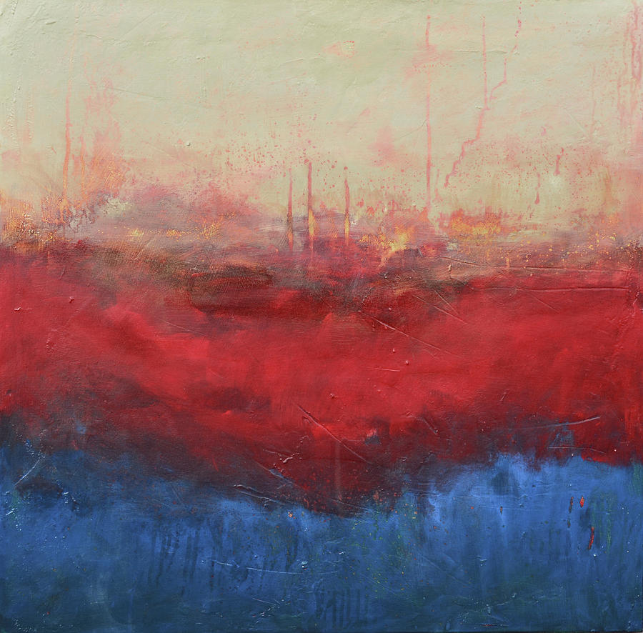 Abstract Painting - Fire In The Sky by Filomena Booth