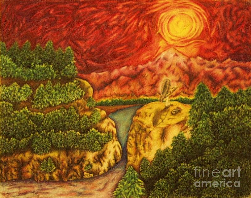 Sun Drawing - Fire In The Sky by Jamey Balester