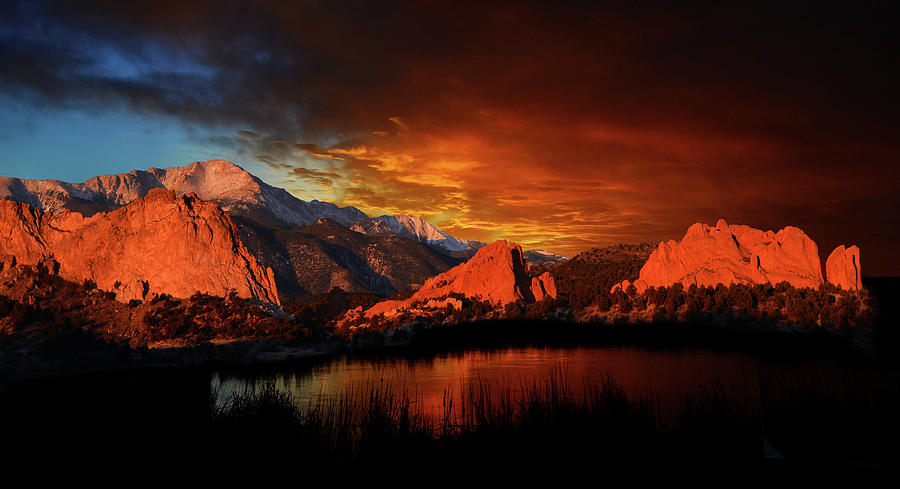 Colorado Springs Photograph - Fire In The Sky by John Hoffman