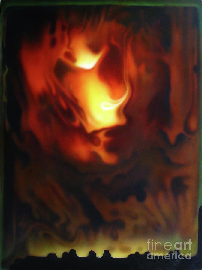 Fire Painting - Fire In The Sky by Jurek Zamoyski