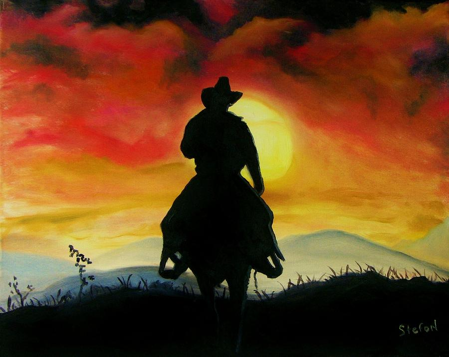 Horses Painting - Fire In The Sky by Stefon Marc Brown