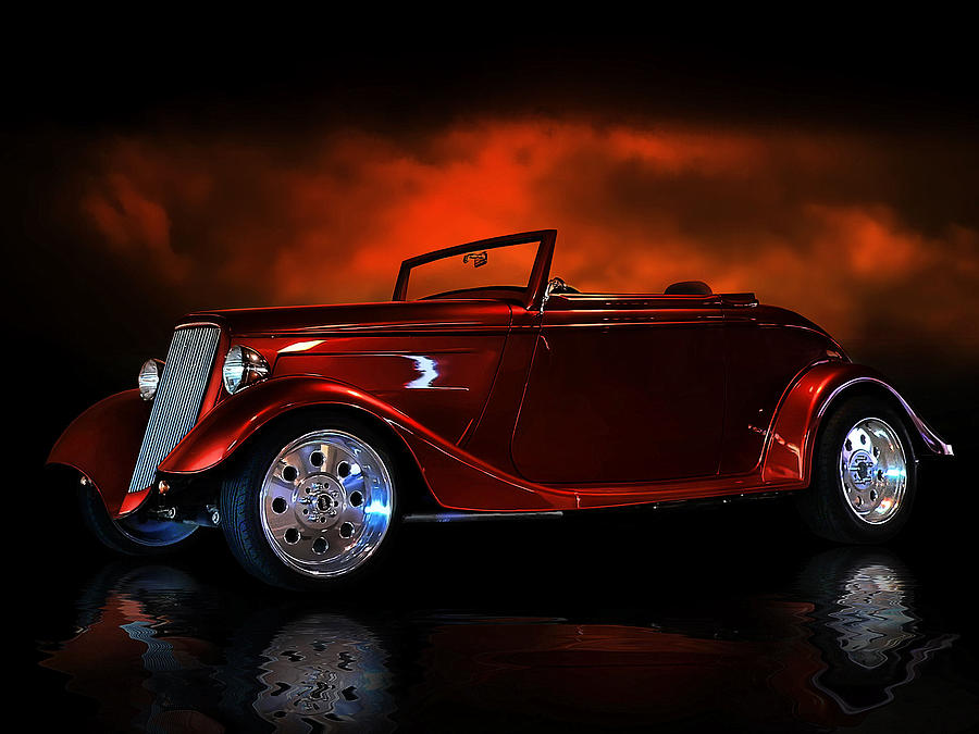 1934 Digital Art - Fire Is The Lightning by Rat Rod Studios
