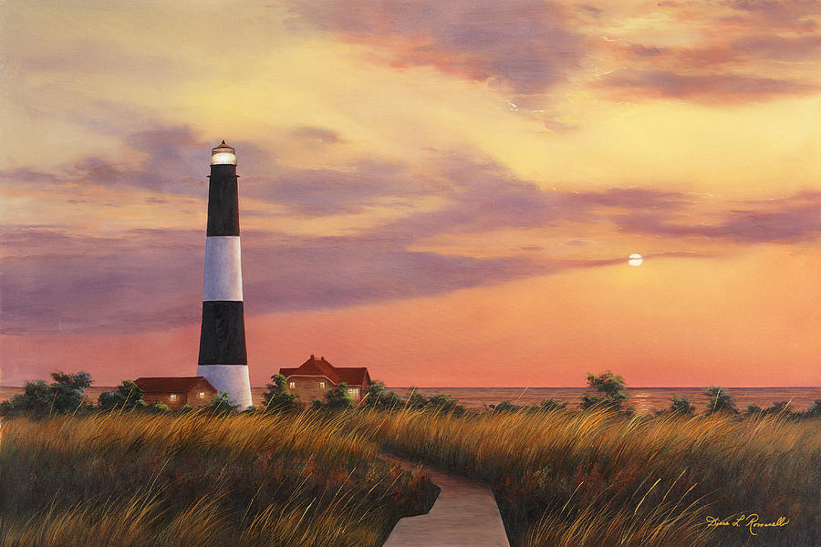 Fire Island Lighthouse Painting By Diane Romanello
