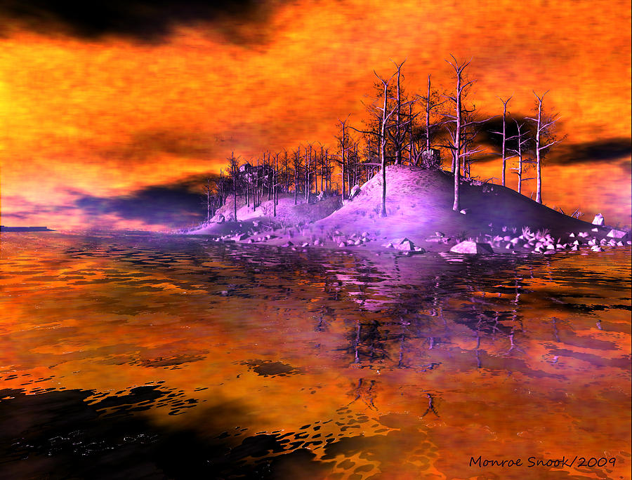 Landscape Digital Art - Fire Island by Monroe Snook