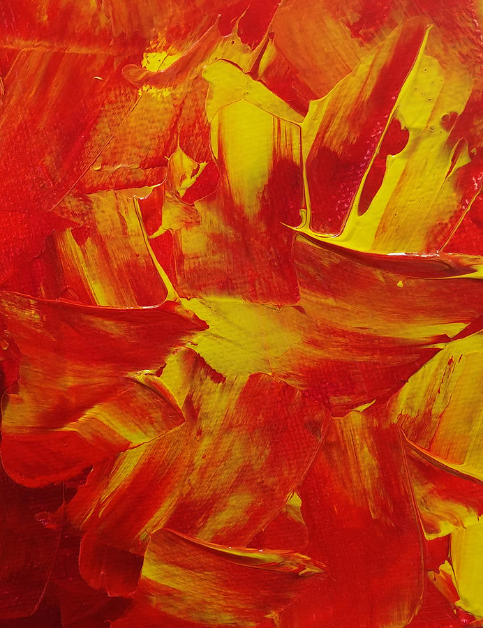 Fire Painting - Fire by Leena Kewlani