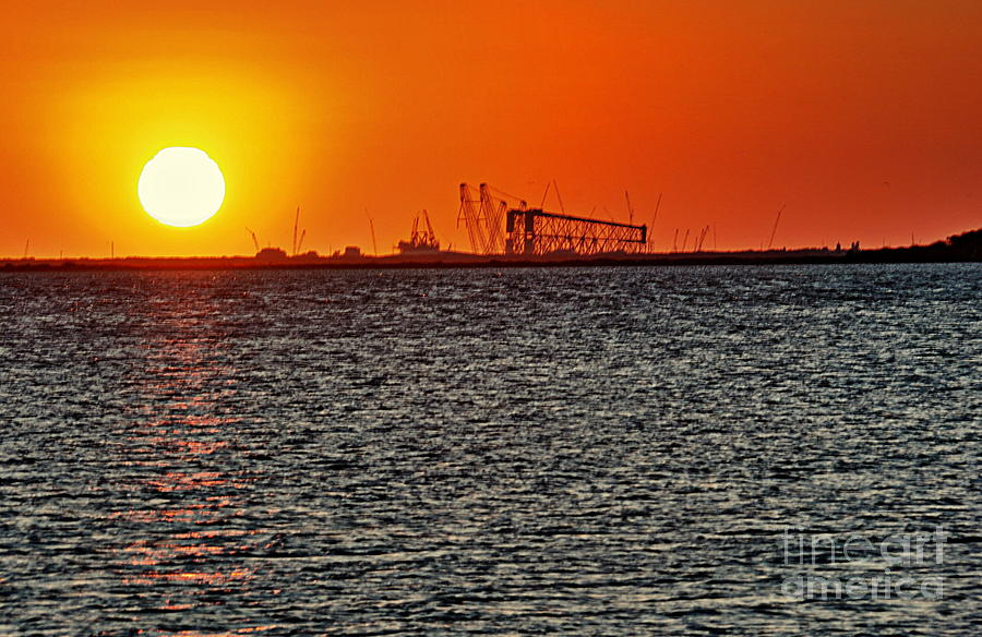 Sunset Photograph - Fire On The Water by Ken Williams