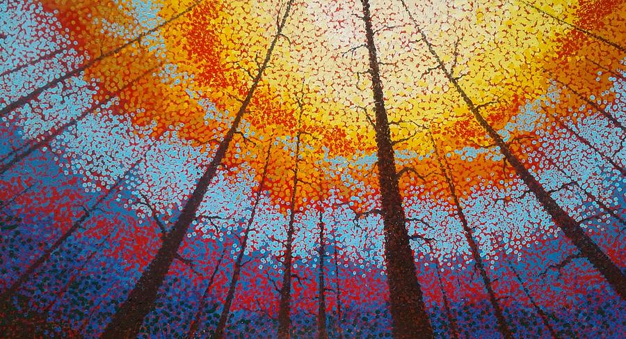 Landscape Painting - Fire  Over Montana 2017 by Kevin Heaney