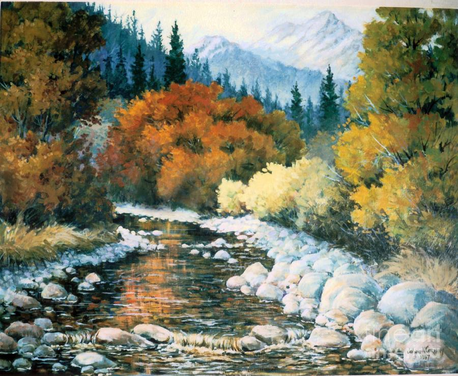 Trees Painting - Fire River by JoAnne Corpany