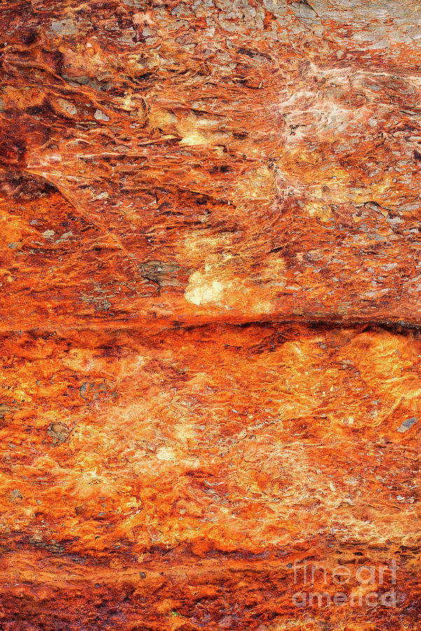 Iron Ore Photograph - Fire Rock by Tim Gainey