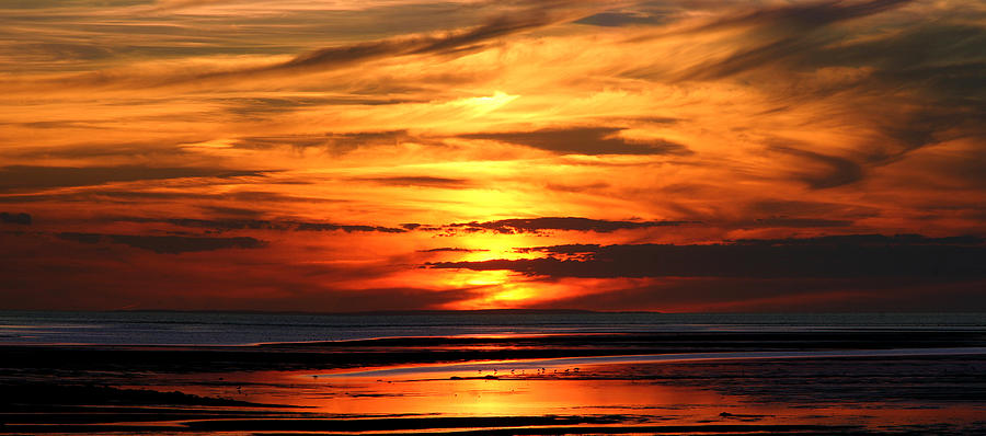 Seascape Photograph - Fire Sky by Sam Smyth