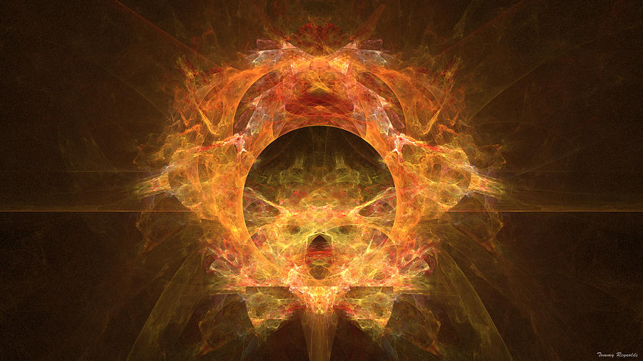 Fire Digital Art - Fire Sphere by Tommy Reynolds