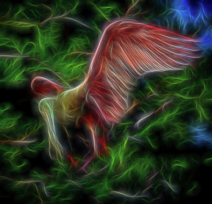Abstract Digital Art - Fire Spirit 2 by William Horden