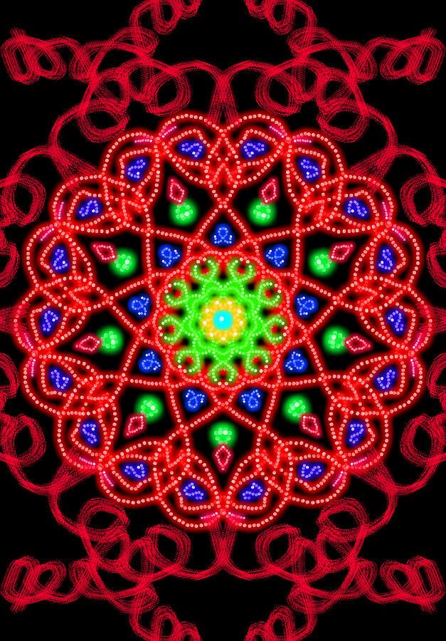 Fire Star Digital Art by Michele Roehl
