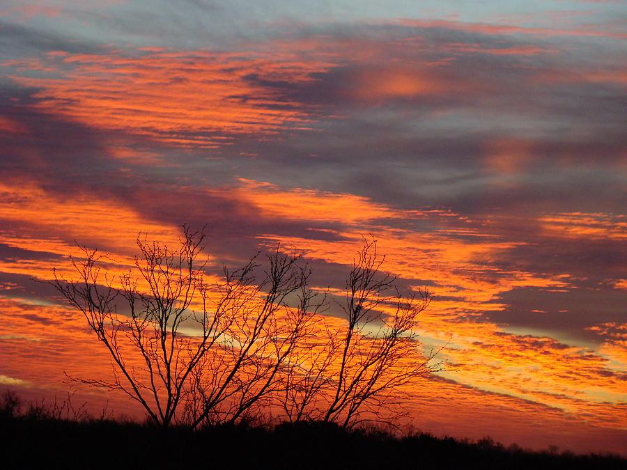 Red Photograph - Fire Sunrise by Ana Villaronga