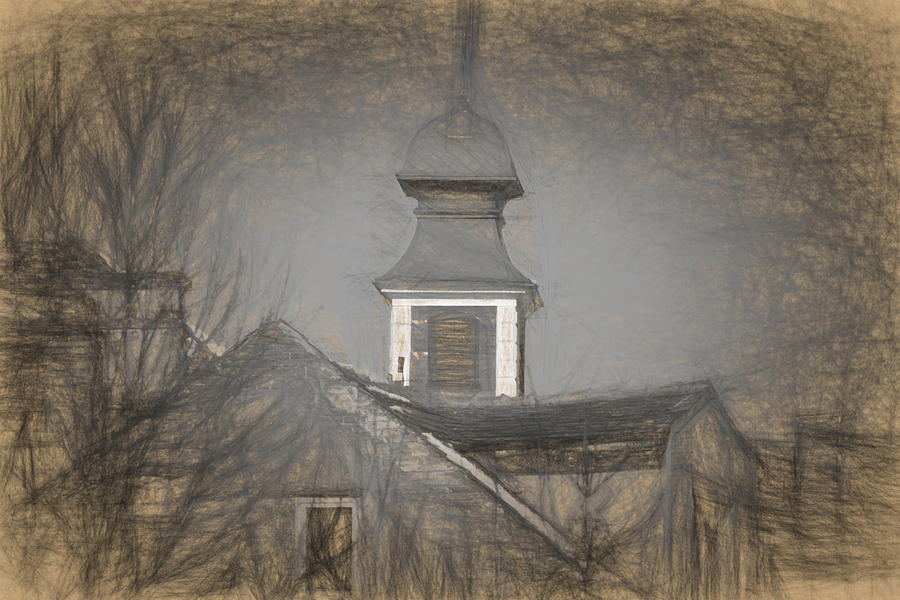 Ancient Photograph - Fire Tower in Old City Sibiu Romania by Adrian Bud
