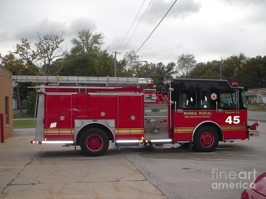 Firetruck Photograph - Fire Truck by Deborah Finley