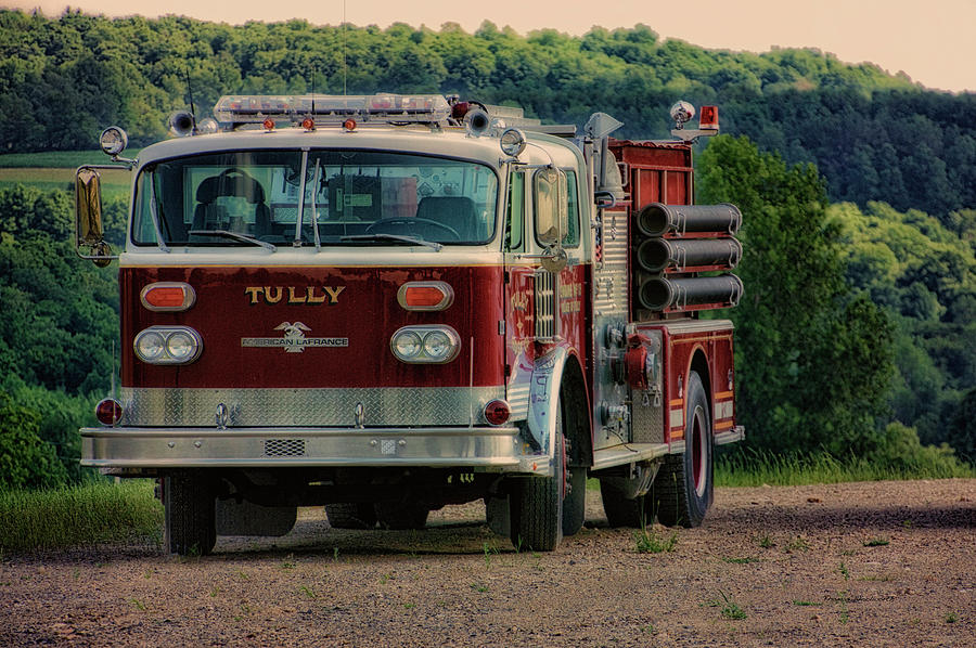 Fire Truck Photograph - Fire Truck  Engine 13 Village Of Tully New York Pa by Thomas Woolworth