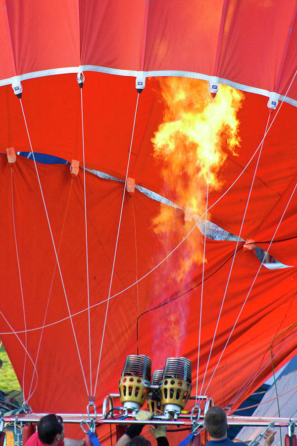 Hot Air Balloons Photograph - Fire Up by Brian Roscorla