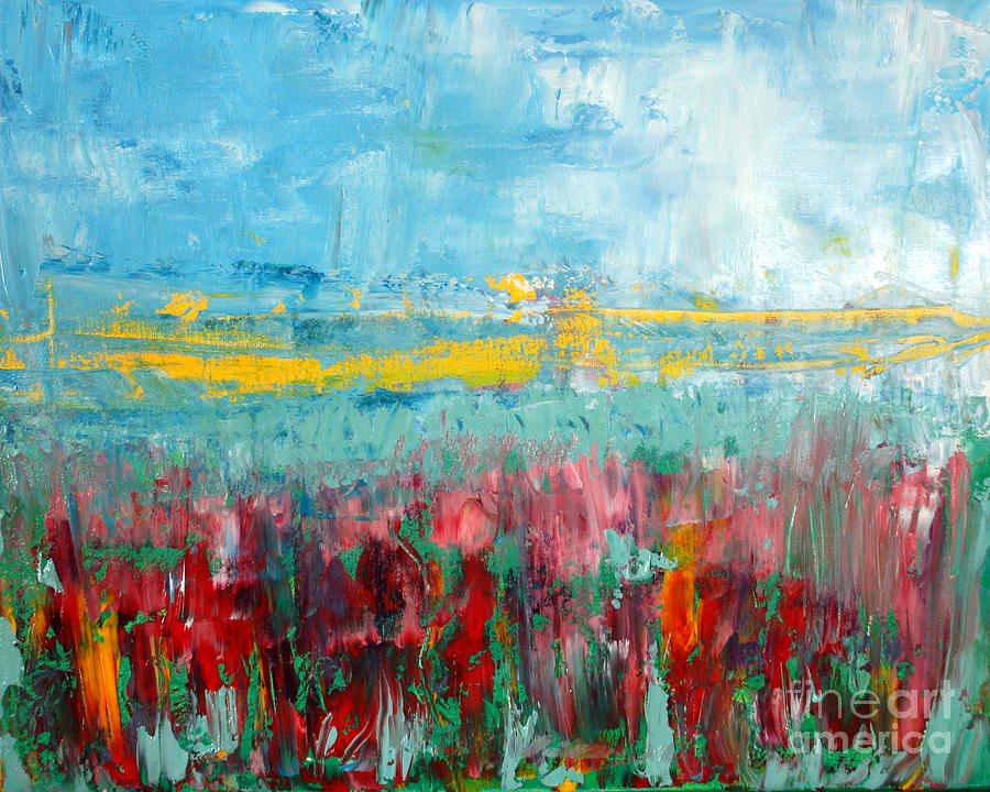 Abstract Painting - Fire Weed by Julie Lueders