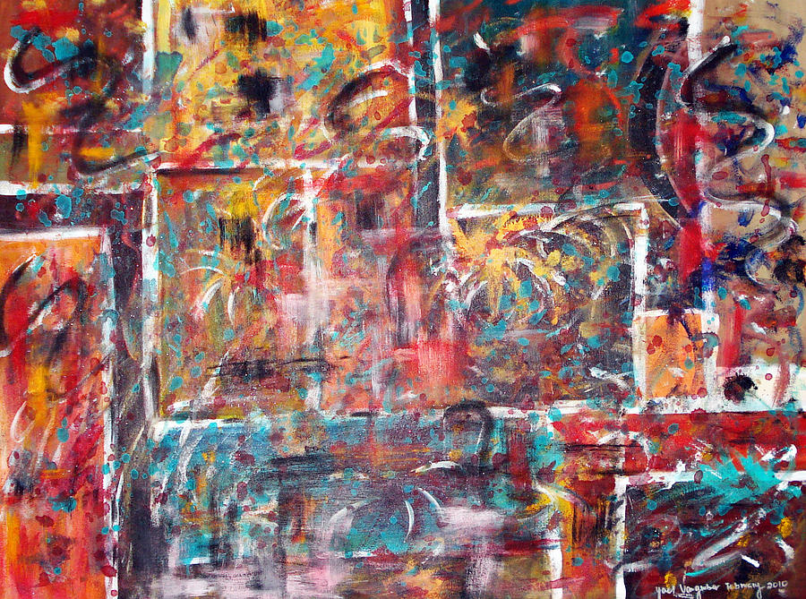 Abstract Painting Painting - Fire Works by Yael VanGruber